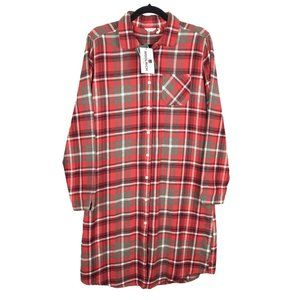 NWT Woolrich Pemberton Flannel Shirt Dress M